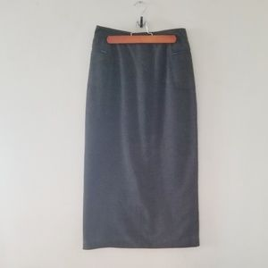 The Limited long charcoal gray skirt